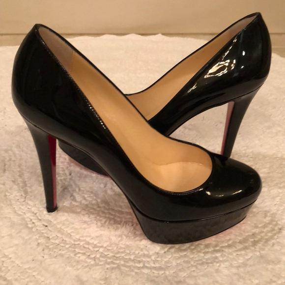 christian louboutin shoes black bianca patent pump poshmark rh poshmark com